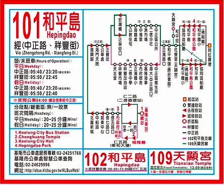 基隆101和平島公車路線圖
