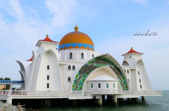 【馬六甲景點】水上清真寺|漂浮在馬六甲海峽上的夢幻清真寺,美的很不現實!