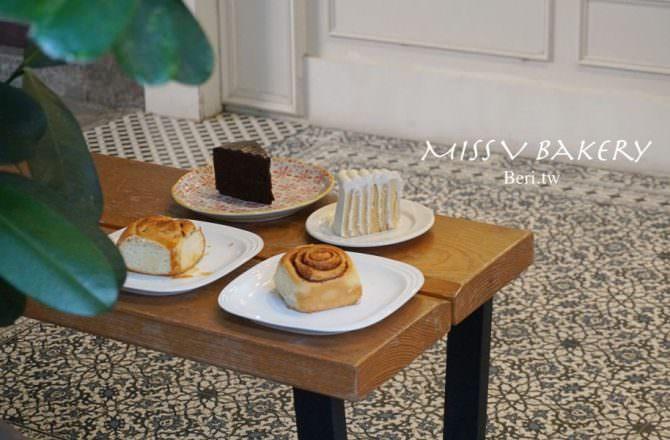 【中山站甜點推薦】Miss V Bakery Cafe赤峰店,超人氣肉桂捲,巷弄中的幸福甜點店/咖啡廳|台北美味早午餐