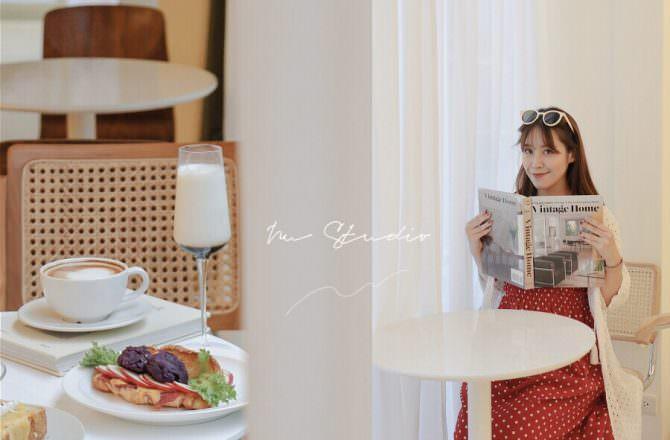 【科技大樓站咖啡廳】Nu Studio絕美韓系咖啡廳,瑞安街的一股韓意|奶油白空間|台北咖啡廳推薦