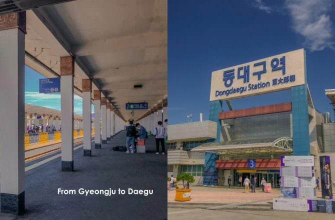 【慶州去大邱的交通】如何從慶州搭火車去大邱?無窮花號購票、票價、交通|慶州車站至東大邱車站